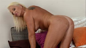 Anett in 'Lusty Granny Annett Craves Dark Meat'