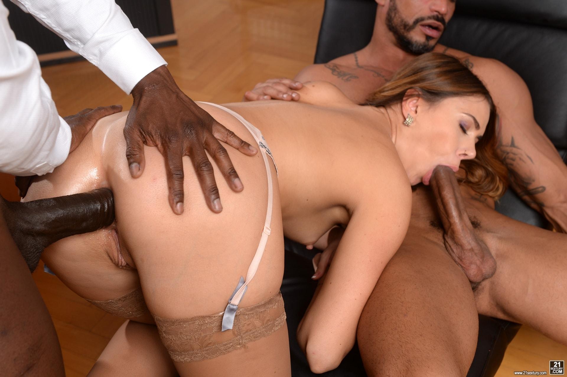 21Sextury 'My Bosses DP'd Me At Work' starring Ani Black Fox (Photo 165)