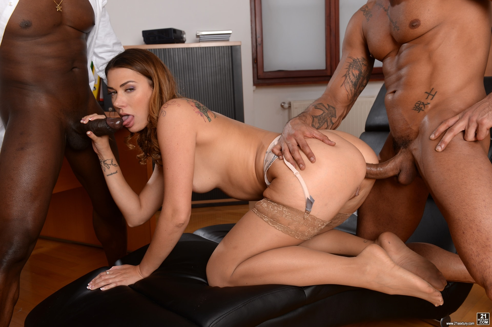 21Sextury 'My Bosses DP'd Me At Work' starring Ani Black Fox (Photo 209)