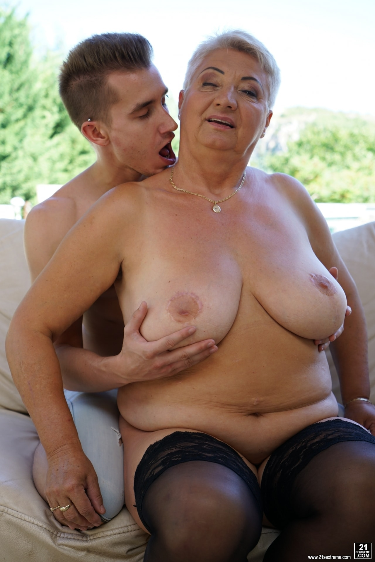 21Sextury 'Lusty Granny's Poolside Fuck' starring Astrid (Photo 72)