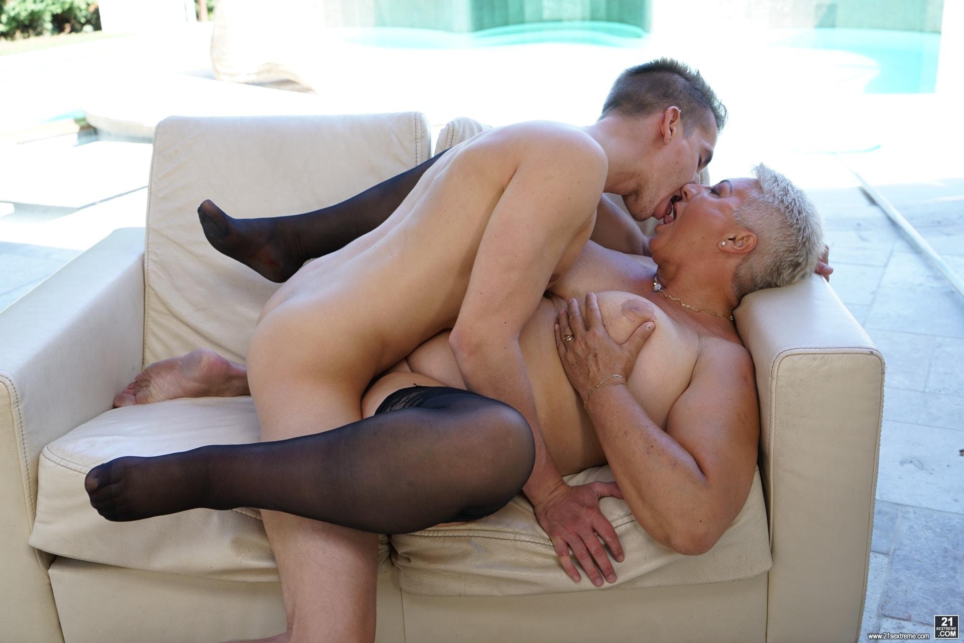21Sextury 'Lusty Granny's Poolside Fuck' starring Astrid (Photo 234)
