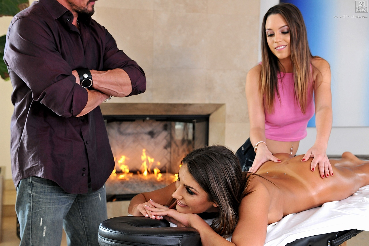 21Sextury 'Massage Threesome Part 1' starring August Ames (Photo 80)