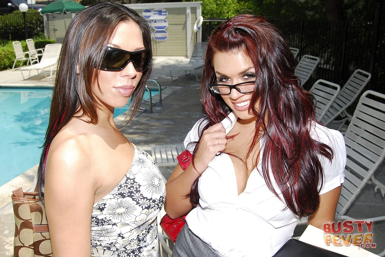 21Sextury 'Busty Rachel Starr meets Eva Angelina' starring Eva Angelina (Photo 3)