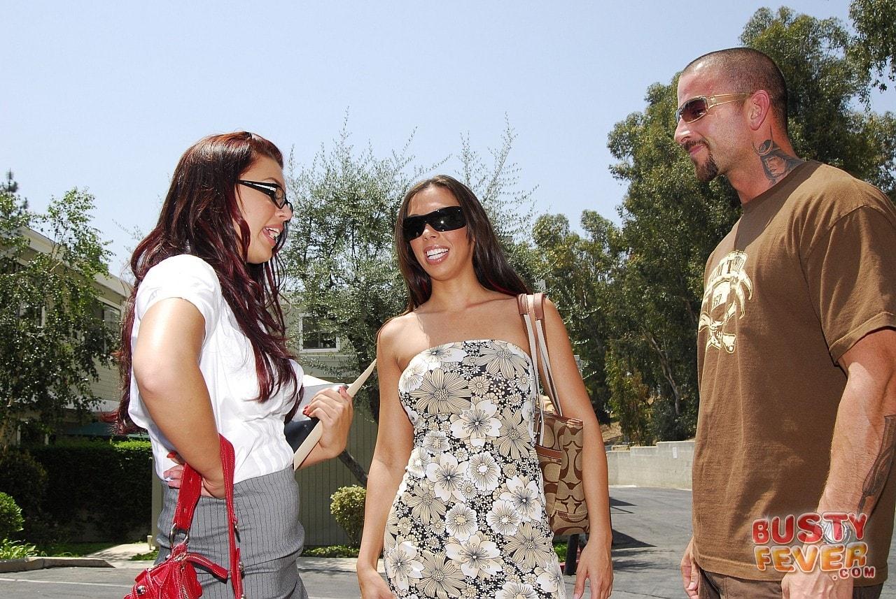 21Sextury 'Busty Rachel Starr meets Eva Angelina' starring Eva Angelina (Photo 9)