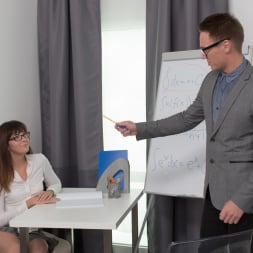 Katty Blessed in '21Sextury' Nerd Girl Fucks Prof (Thumbnail 1)