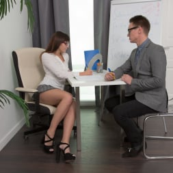 Katty Blessed in '21Sextury' Nerd Girl Fucks Prof (Thumbnail 10)