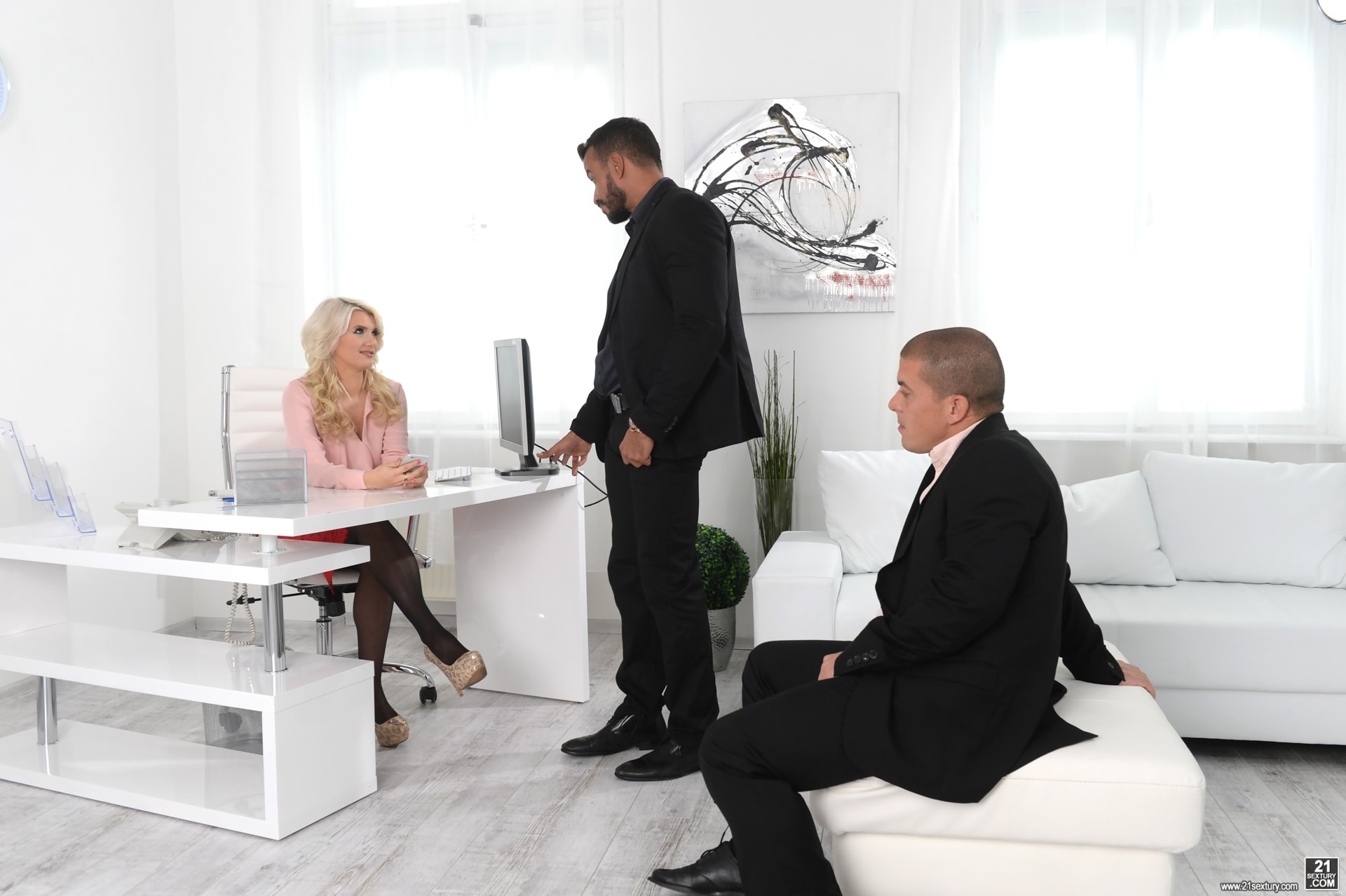 21Sextury 'Double Teaming Our Boss' starring Layla Price (Photo 36)