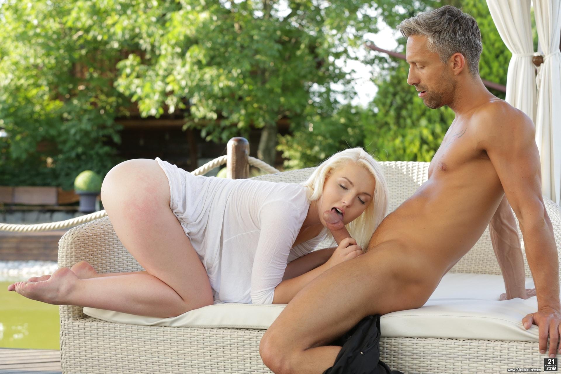Blonde babe lovisa fate takes a load of hot jizz in her face 9