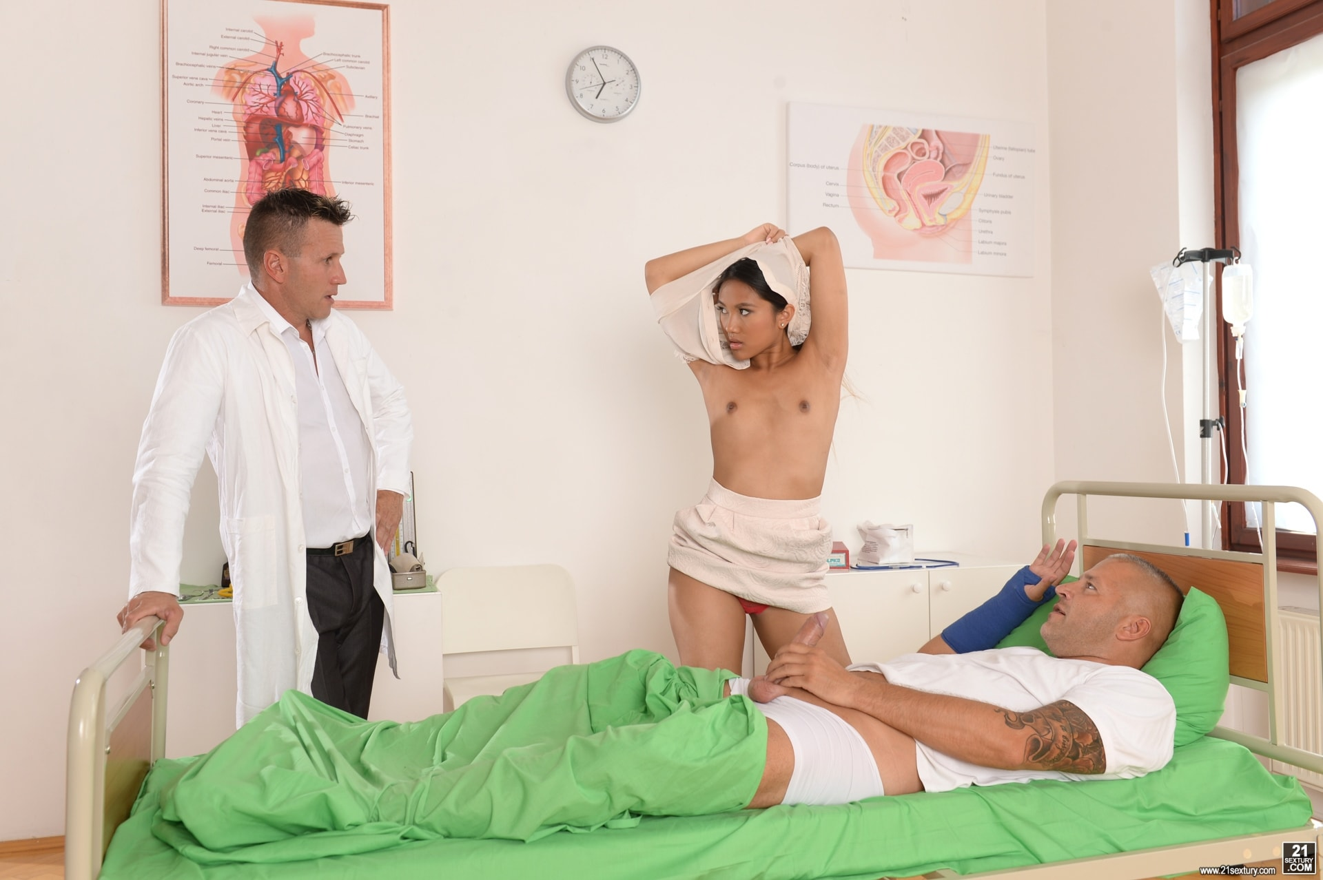 21Sextury 'Patient and Doc Double Penetrate The Nurse' starring Mai Thai (Photo 40)
