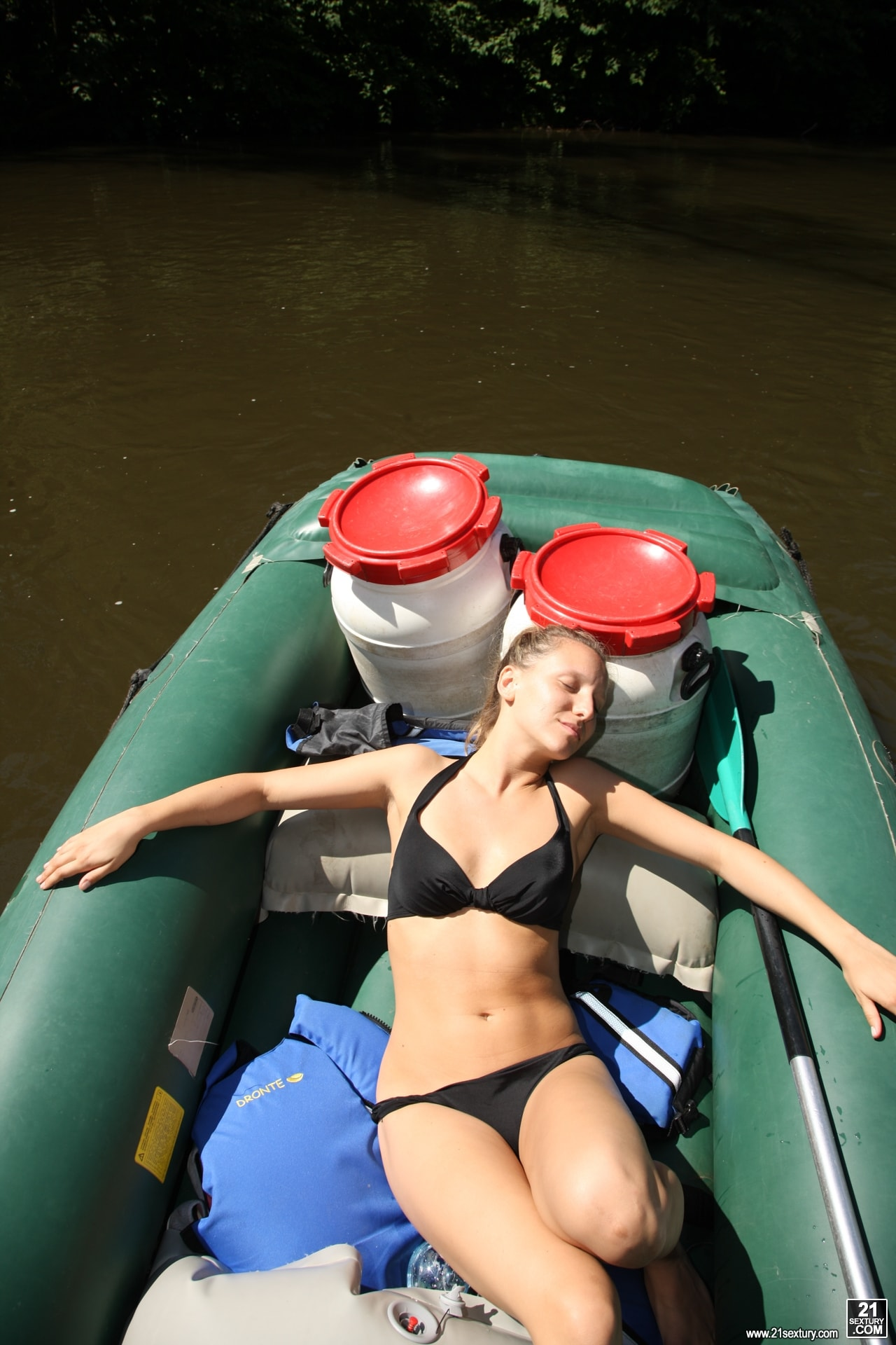 21Sextury 'Nessy's Boat Masturbation' starring Nessy (Photo 1)