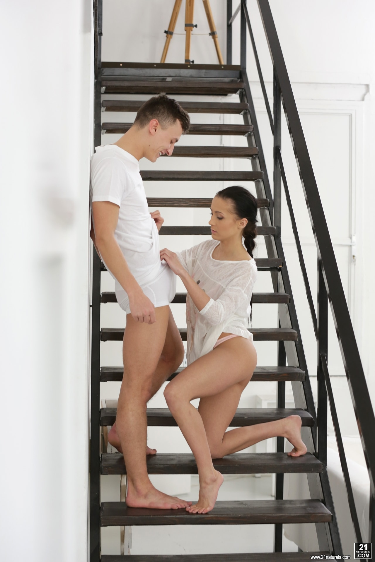 21Sextury 'Anal Fucking On The Stairs' starring Nicole Love (Photo 80)