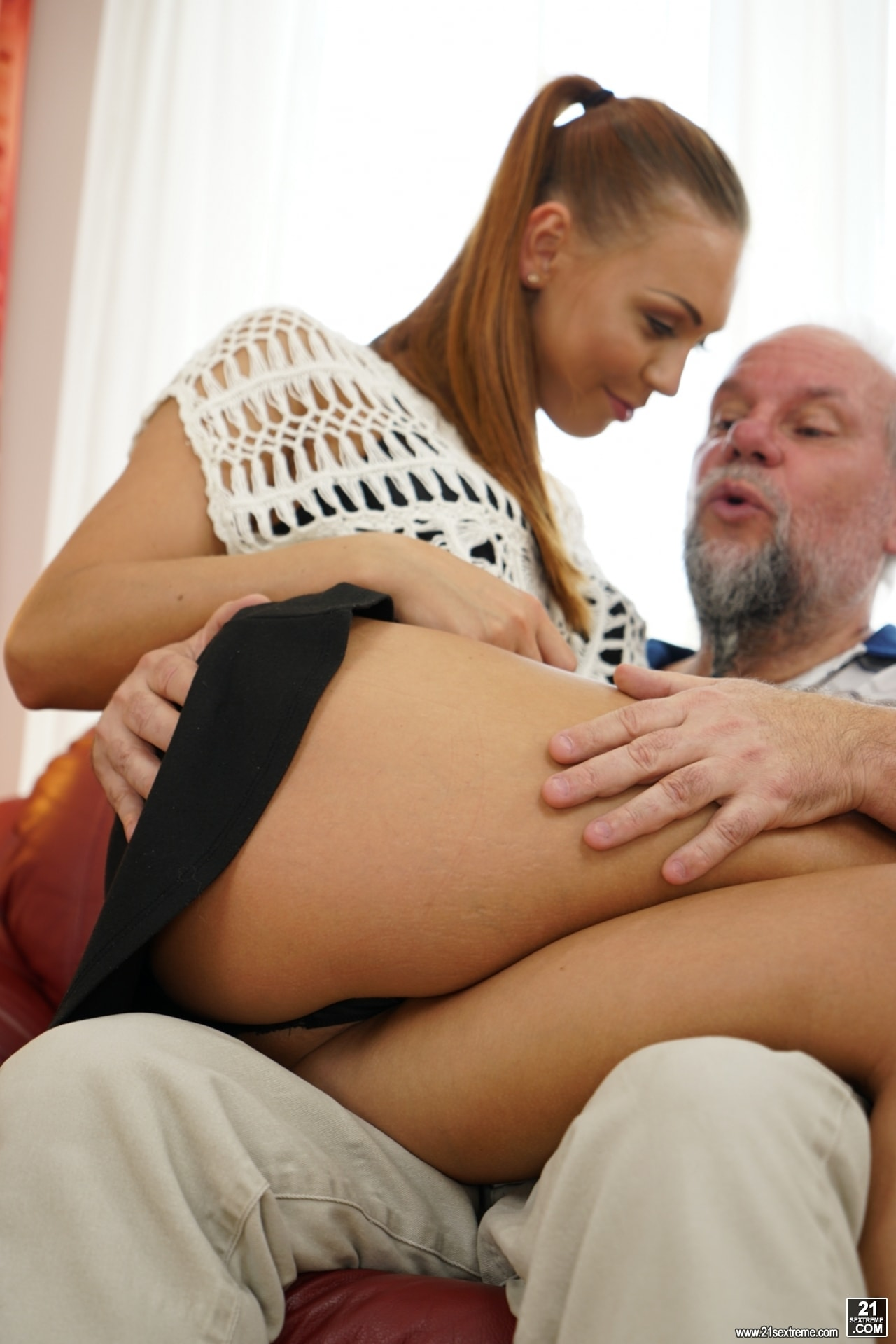 21Sextury 'Pleasing Naughty Grandpa' starring Ornella Morgan (Photo 69)