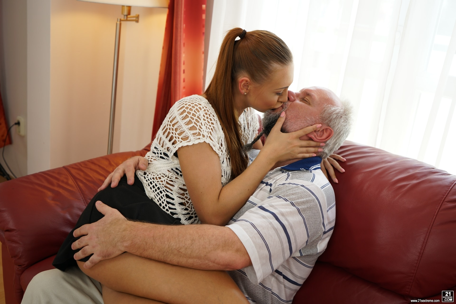 21Sextury 'Pleasing Naughty Grandpa' starring Ornella Morgan (Photo 92)
