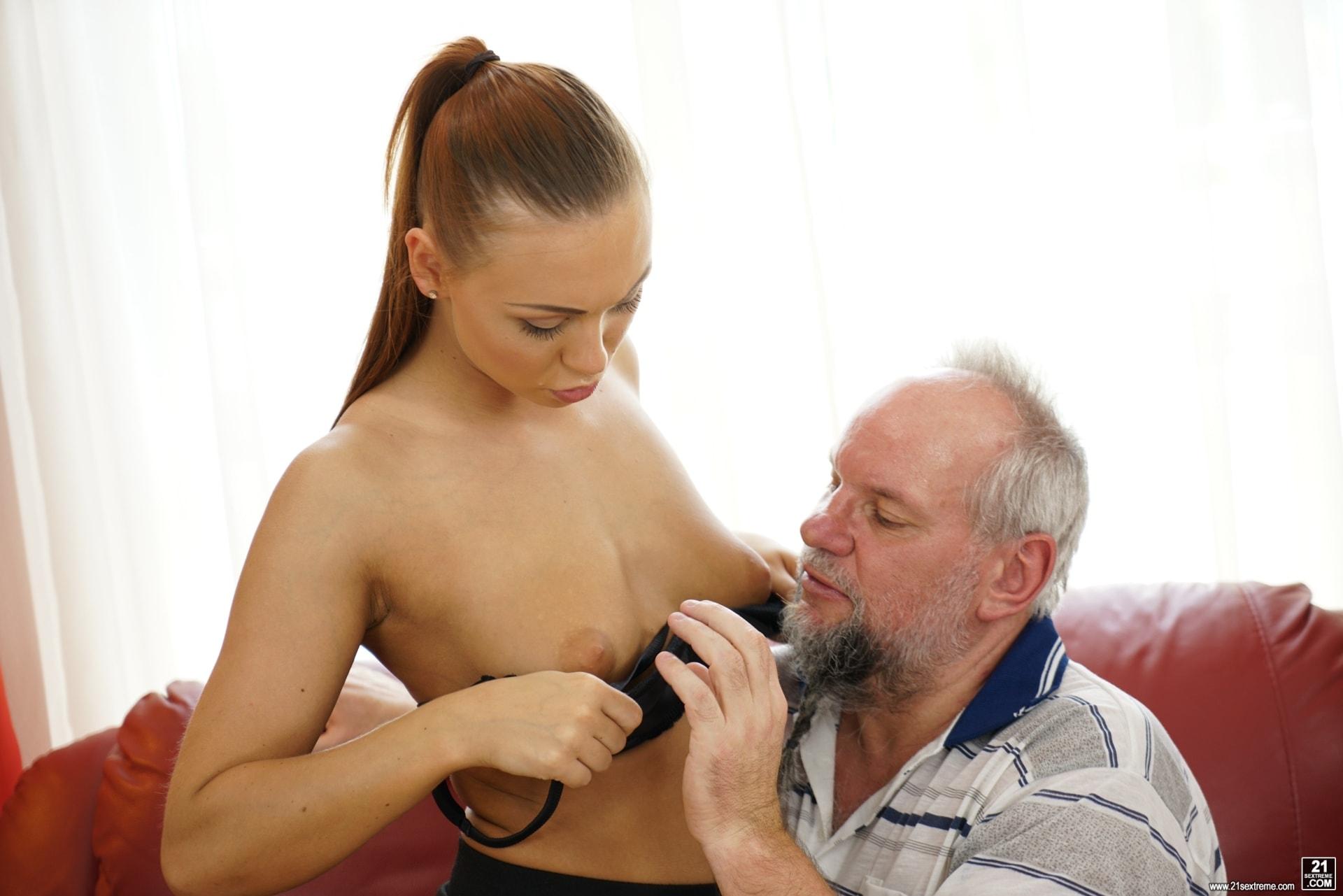 21Sextury 'Pleasing Naughty Grandpa' starring Ornella Morgan (Photo 138)